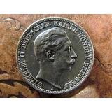 Antigua Moneda Alemania 3 Marcos 1912 A Plata