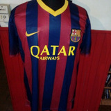 Camiseta Barcelona 2014 Qatar Airways Tit Con Short Regalo