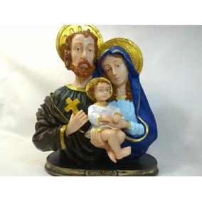 Sagrada Família Busto Resina 30 Cm Imagem Católica