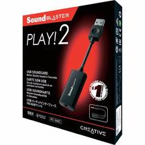 Sound Blaster Play!2 - Placa De Som Usb - Creative