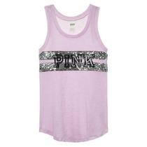 Victorias Secret Blusa Tipo Tank Rosa Claro Talla S Amyglo