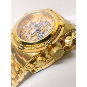 Relógio Invicta Bolt Zeus 12763 Dourado Skeleton 53mm Novo