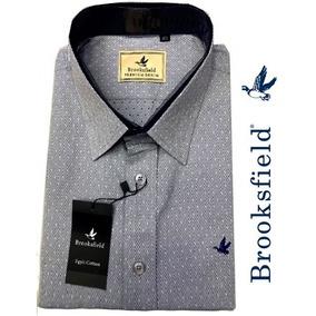Camisa Social Brooksfield (pontinhos) Cinza