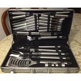 Set De Cuchillos Parrilleros 25 Piezas Stainless Steel