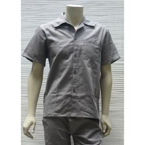Camisa Brim Uniforme Trabalho Mecânico Construção Pedreiro