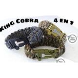 Pulsera Supervivencia 4 En 1 King Cobra Brazalete Paracord
