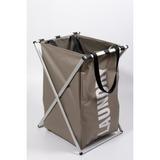 Canasto Laundry Tela Armazón Aluminio 40x35x56cm -cesto Ropa