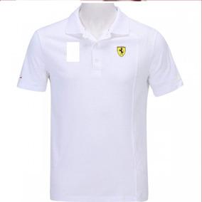 Kit Camiseta Ferrari 10 Uni Algodão Gola Polo