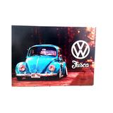 Placa Quadro Decorativo Em Metal Fusca Pl311 30x40cm