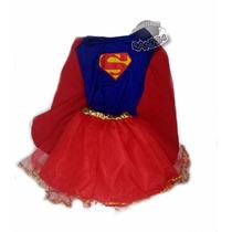 Disfraz Super Girl Superchica Artesanal Talle 5/6 Años