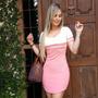 Vestido Bicolor Feminino Curto Moda Instagram Blogueiras