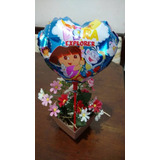 Balão Dora Aventureira (20cm Centro De Mesa) - Pacote Com 10