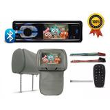 Kit Dvd Player Bluetooth Gol G5 Cd Usb Encosto De Cabeça