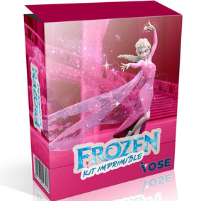 Kit Imprimible Frozen Diseño Rosado + Envío Inmediato