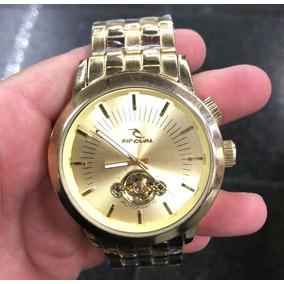Relógio Masculino Rip Curl Automático Dourado Preto Barato