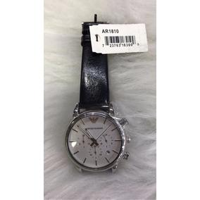 Relógio Empório Armani Ar1810 Com Caixa Manual Fundo Branco