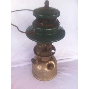 Lampião De Ferro Coleman Antigo Verde C Alca