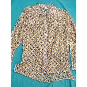 Camisa Camisola De Gasa Manga Larga Nueva Talle M