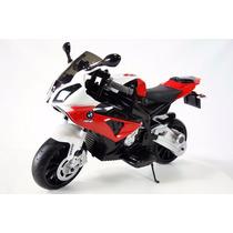 Moto A Batería Bmw Para Niños 12v Con Licencia Roja