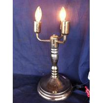 Luminaria De Mesa Candelabro 3 Lampadas Abajur Estilo Ingles