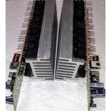 Amplificador + Saidas/dissipador 1000w 2 Placas Montada 2ohm