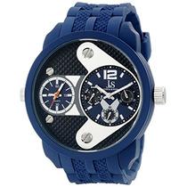 Reloj Joshua Sons Mens Js52bu Blue Dual Time