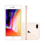 Iphone 8 Plus 5.5 Pol, Câmera 12mp Dupla + 7mp 256gb Dourado