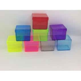 1000 Caixinha Acrilica 6x6 Colorida Translucidas