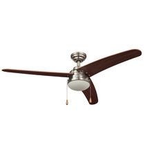 Cool Fan 46802 Ventilador Sotavento 1 Luz Níquel 3 Aspas, 52