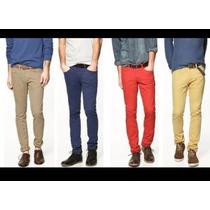 Pantalones De Colores De Caballero Drill No Pierden Su Color