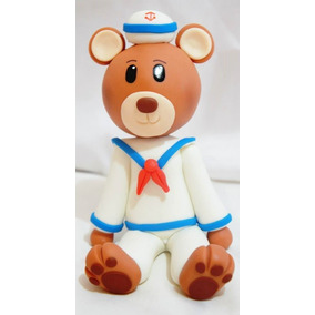 Topo De Bolo Urso Marinheiro Biscuit 15cm