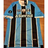 Camisa Grêmio Libertadores 2017 Luan Versão Jogo Completa