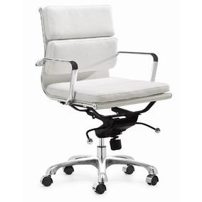 zuo modern director silla de oficina blanca