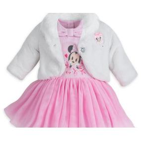 Disney Store Vestido Y Abrigo De Bebé Rosa Original 3 Piezas