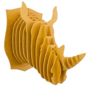 Rinoceronte Amarillo Cabeza Decora Animal Valchro8m Regalo