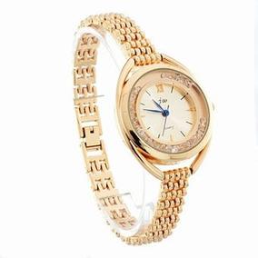 Reloj Dama Análogo, Metálico, Elegante, Color Dorado