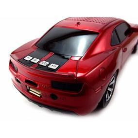 Camaro Caixinha Caixa De Som Carro Amplificada Fm Efeito Led