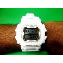 Relógio Digital Masculino Esportivo Anti Shock Branco Barato