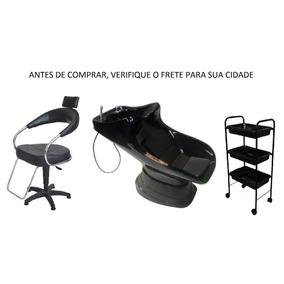 Kit Cabeleireiro - Lavatório, Cadeira Gás E Carinho Auxiliar