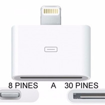 Adaptador De 8 A 30 Pines Para Iphone 5 Ipod 5 Ipad Mini