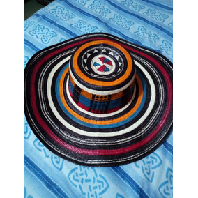 Sombrero Vueltiao Colombiano Tricolor Fino 19 Cinturón Caña