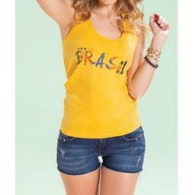 Blusa Feminina Estampa Bandeira Brasil - Camisetas e Blusas para ... ce217d5f1ab9c