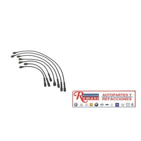 Jgo Cables Bujia Chrysler 8 Cil 318 360 Todos = Be1220c8 52