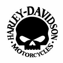 Adesivo Harley Davidson Skull Moto Clube