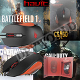 Mouse Gamer Havit Ms-762 9 Teclas Programable Laser 4000 Dpi