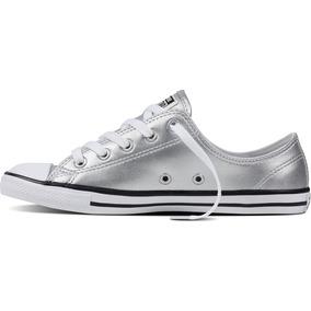 zapatillas converse mujer plateadas