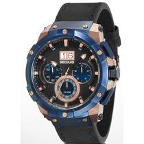 Relógio Seculus Masculino Upper 13008gpsvrc3
