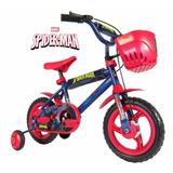 Bicicleta Rodado12 Nene Infantil Hombre Araña Mickey Unibike