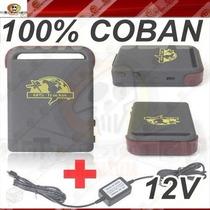 Rastreador Veicular Tk102b + Fonte 12v Moto Carro 100% Coban
