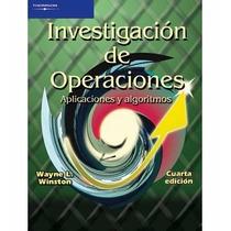 Libro: Investigación De Operaciones Aplicaciones Y ... - Pdf
